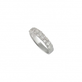 14k White Gold Diamond Half Eternity Ring 1.08ct